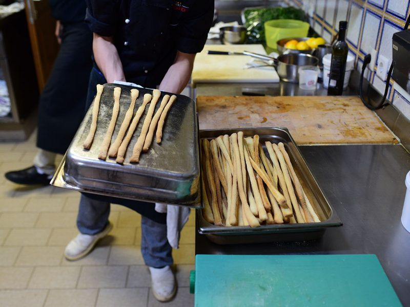 Making Italian Grissini Breadsticks